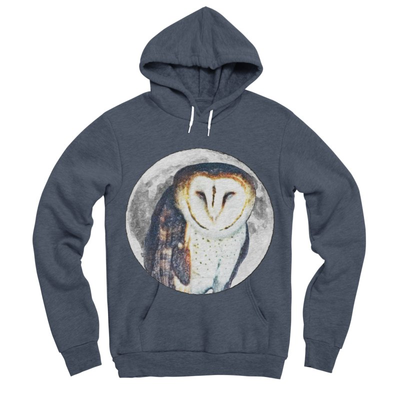 Tyto alba Women's Sponge Fleece Pullover Hoody by Of The Wild by Kimberly J Tilley