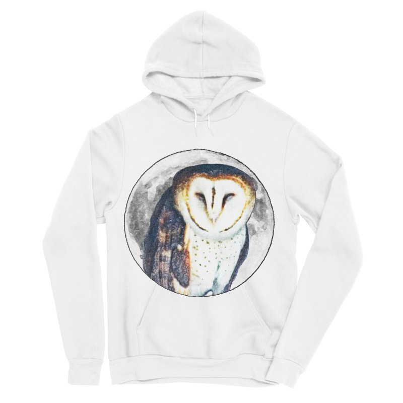 Tyto alba Men's Sponge Fleece Pullover Hoody by Of The Wild by Kimberly J Tilley