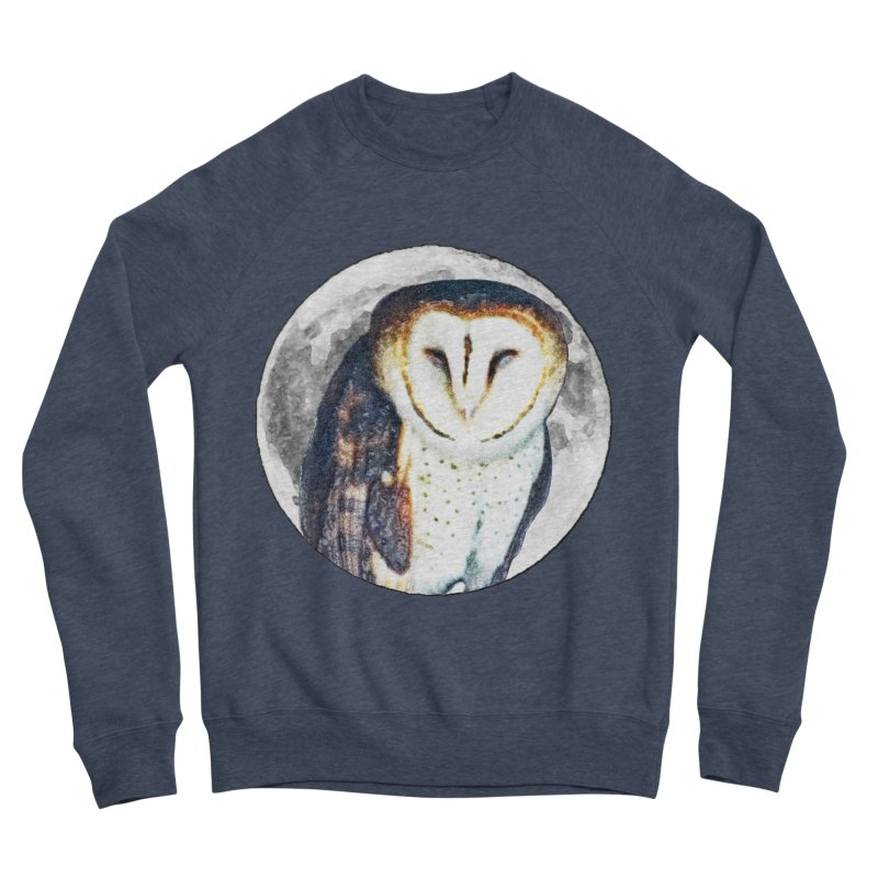 Tyto alba Men's Sponge Fleece Sweatshirt by Of The Wild by Kimberly J Tilley
