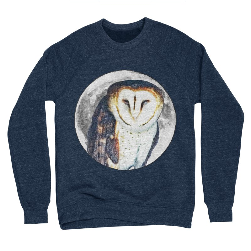 Tyto alba Women's Sponge Fleece Sweatshirt by Of The Wild by Kimberly J Tilley