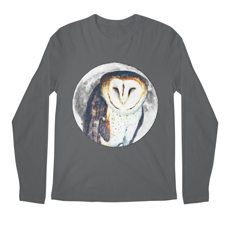Tyto alba Men's Longsleeve T-Shirt by Of The Wild by Kimberly J Tilley