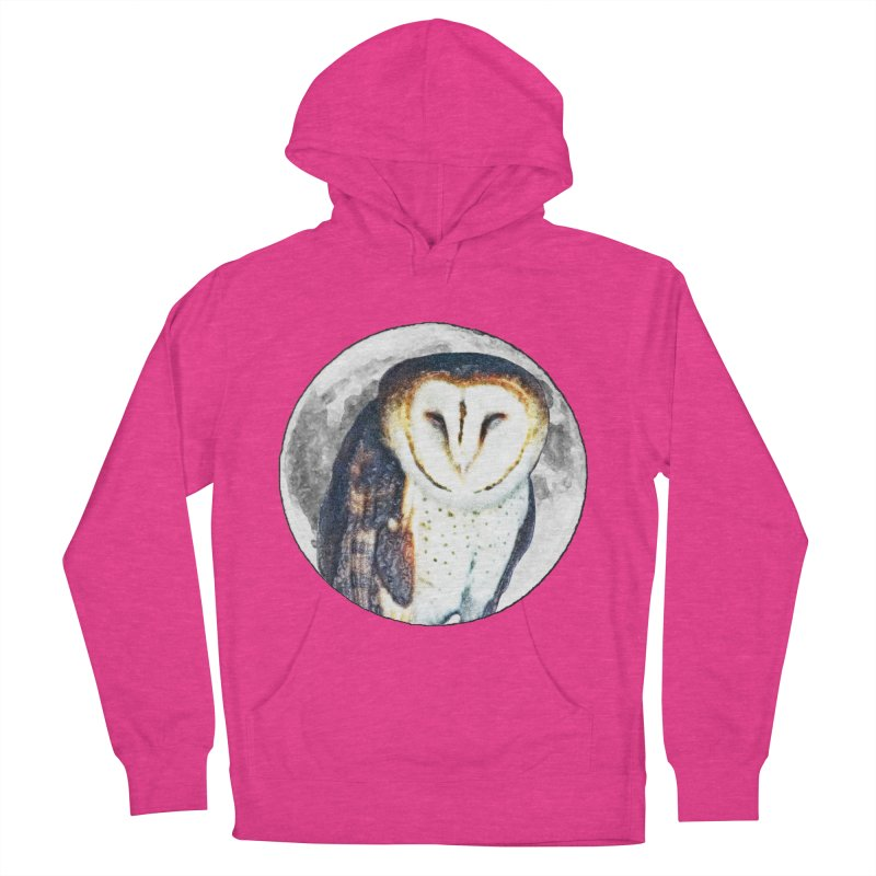 Tyto alba Women's French Terry Pullover Hoody by Of The Wild by Kimberly J Tilley