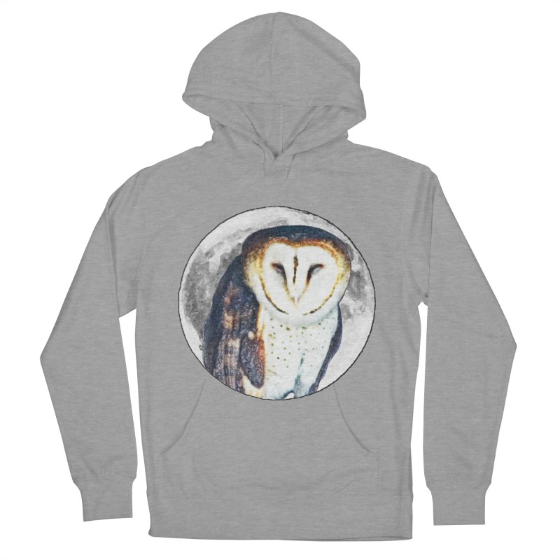 Tyto alba Men's French Terry Pullover Hoody by Of The Wild by Kimberly J Tilley