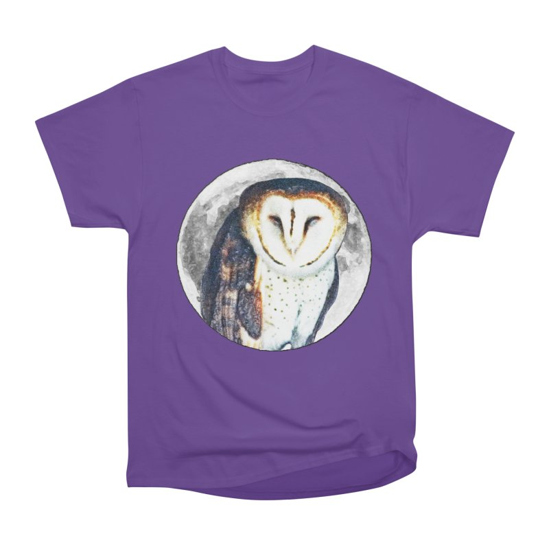Tyto alba Women's Heavyweight Unisex T-Shirt by Of The Wild by Kimberly J Tilley