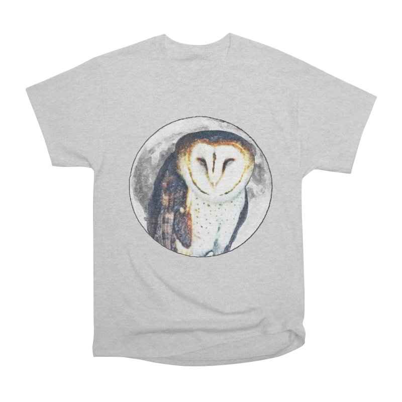 Tyto alba Men's Heavyweight T-Shirt by Of The Wild by Kimberly J Tilley