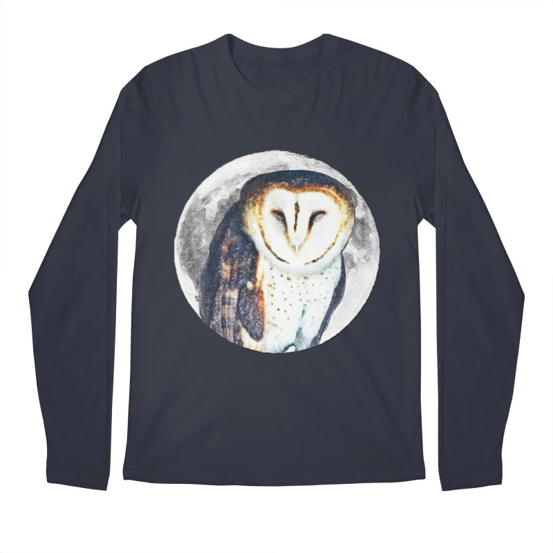 Tyto alba Men's Regular Longsleeve T-Shirt by Of The Wild by Kimberly J Tilley
