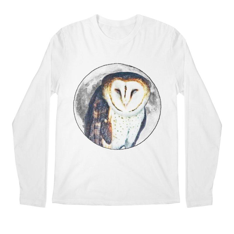 Tyto alba Men's Regular Longsleeve T-Shirt by Of The Wild by Kimberly J Tilley