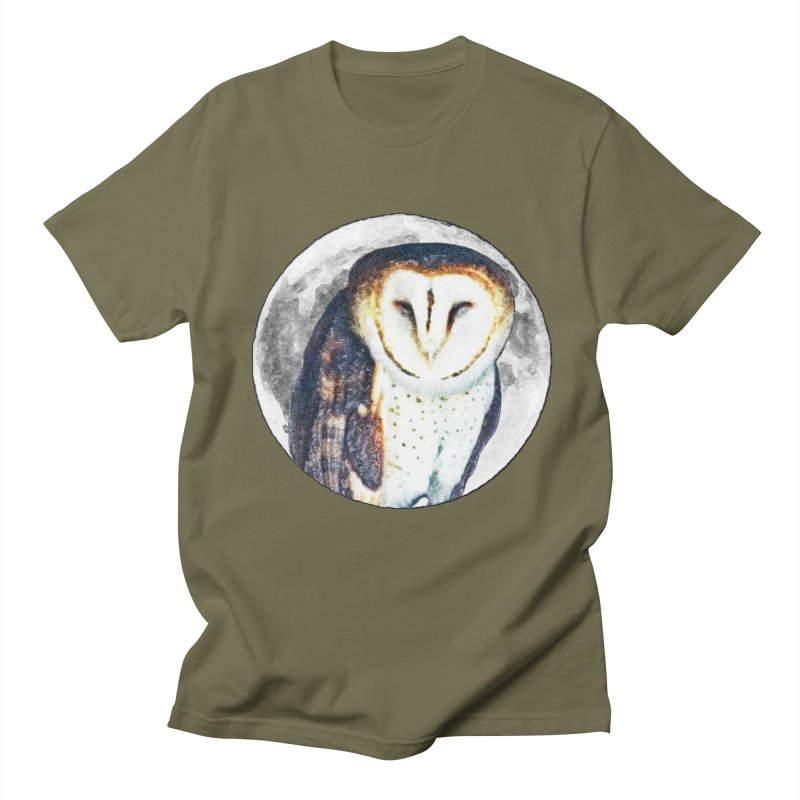 Tyto alba Men's Regular T-Shirt by Of The Wild by Kimberly J Tilley