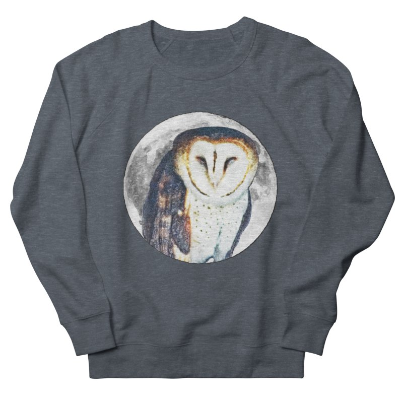 Tyto alba Women's French Terry Sweatshirt by Of The Wild by Kimberly J Tilley