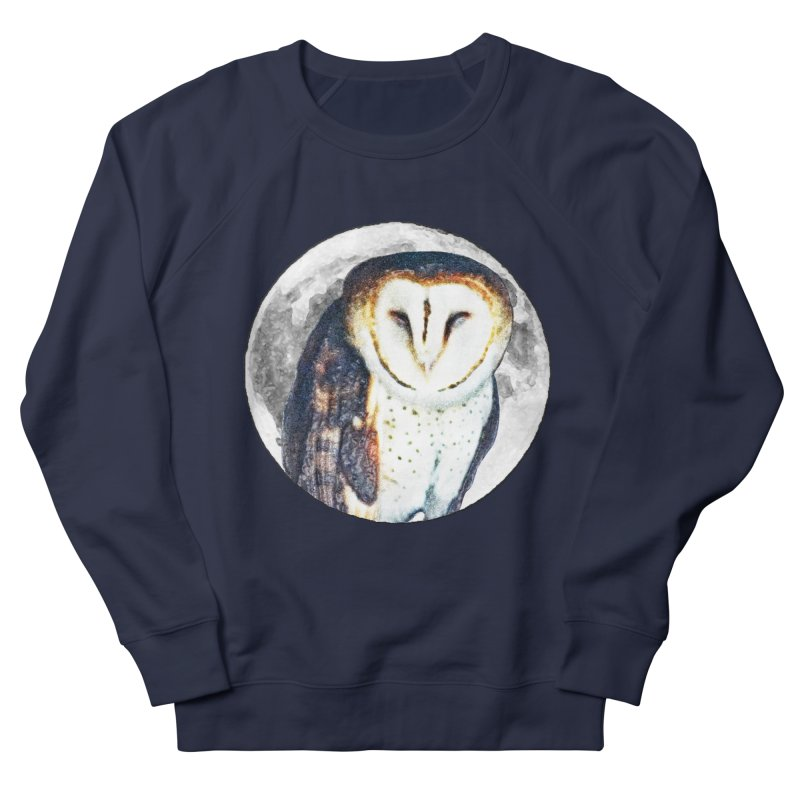 Tyto alba Men's French Terry Sweatshirt by Of The Wild by Kimberly J Tilley