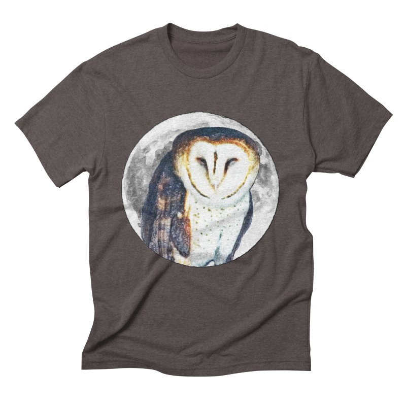 Tyto alba Men's Triblend T-Shirt by Of The Wild by Kimberly J Tilley