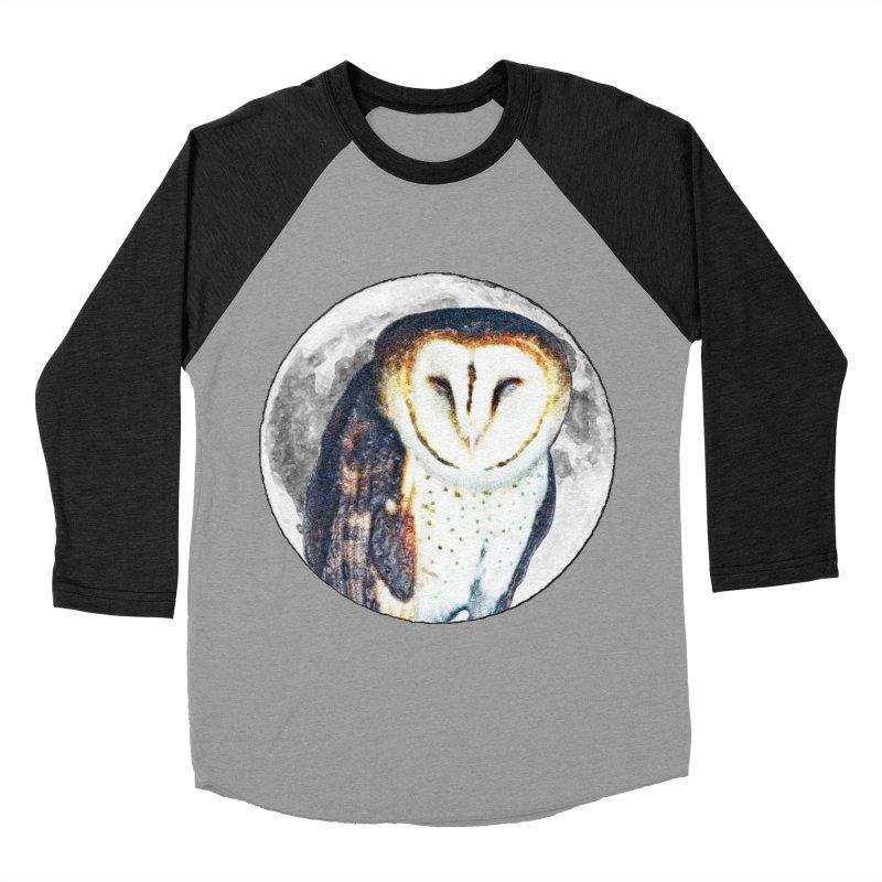 Tyto alba Women's Baseball Triblend Longsleeve T-Shirt by Of The Wild by Kimberly J Tilley