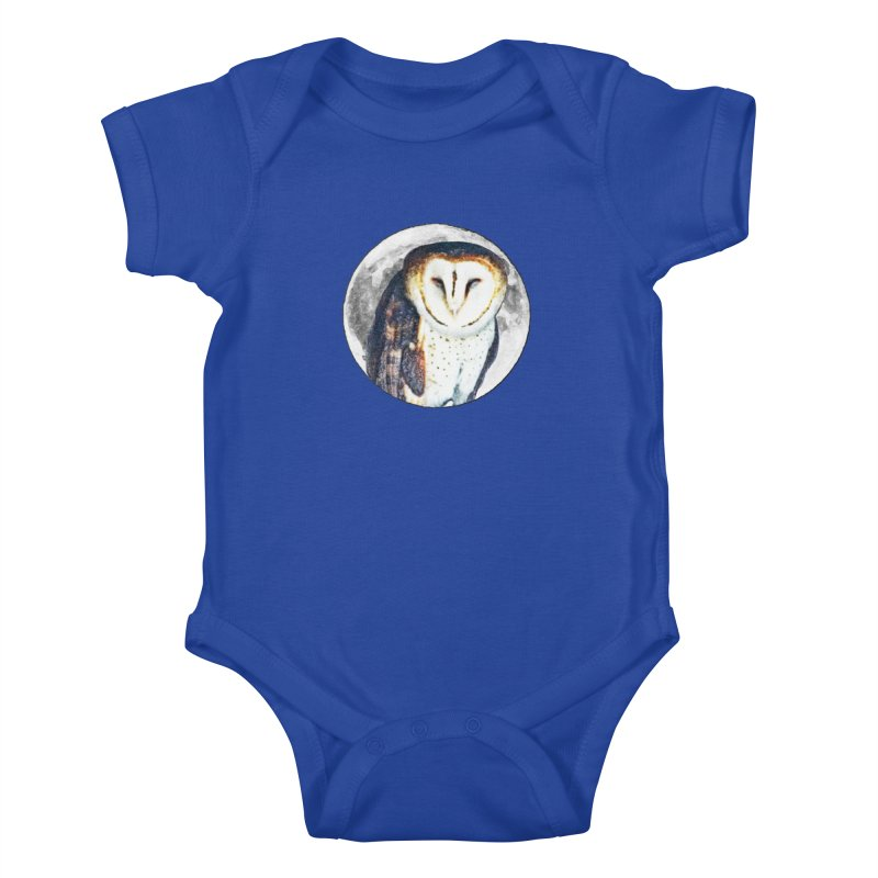 Tyto alba Kids Baby Bodysuit by Of The Wild by Kimberly J Tilley