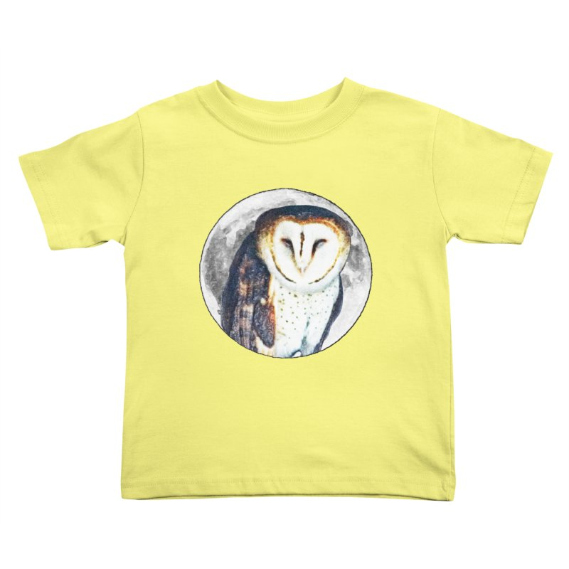 Tyto alba Kids Toddler T-Shirt by Of The Wild by Kimberly J Tilley