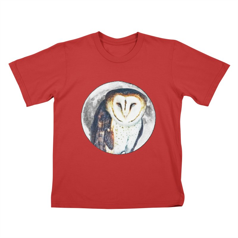 Tyto alba Kids T-Shirt by Of The Wild by Kimberly J Tilley