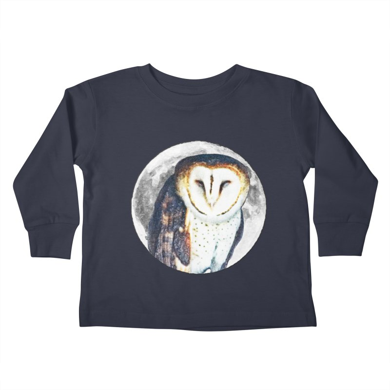 Tyto alba Kids Toddler Longsleeve T-Shirt by Of The Wild by Kimberly J Tilley