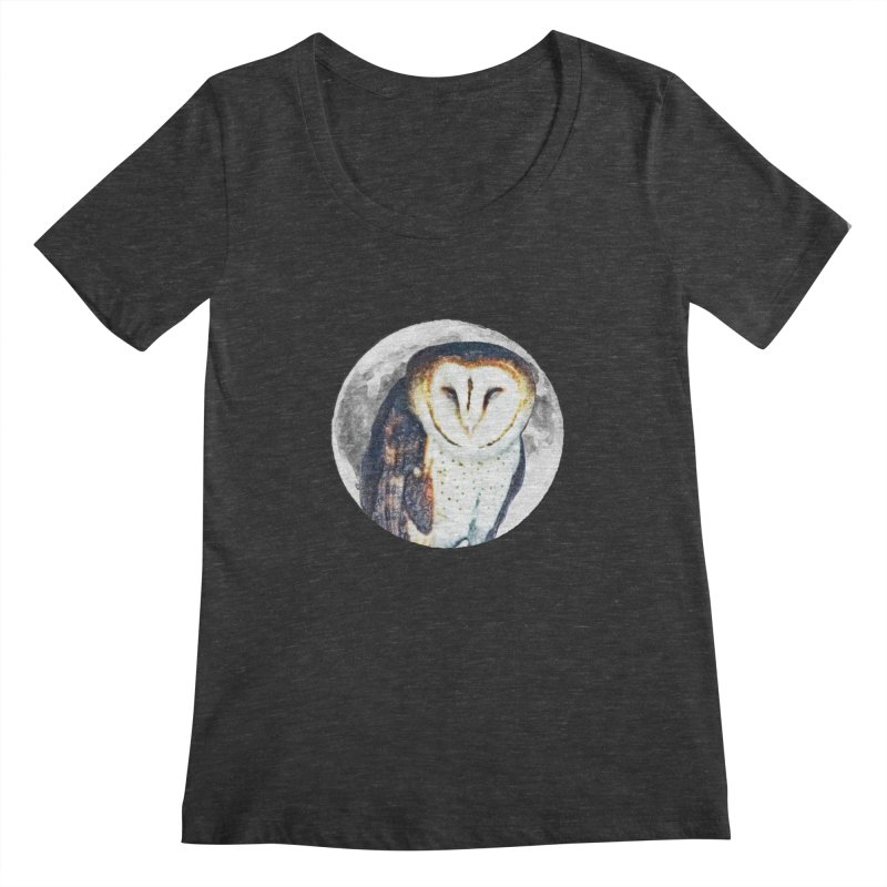 Tyto alba Women's Scoopneck by Of The Wild by Kimberly J Tilley