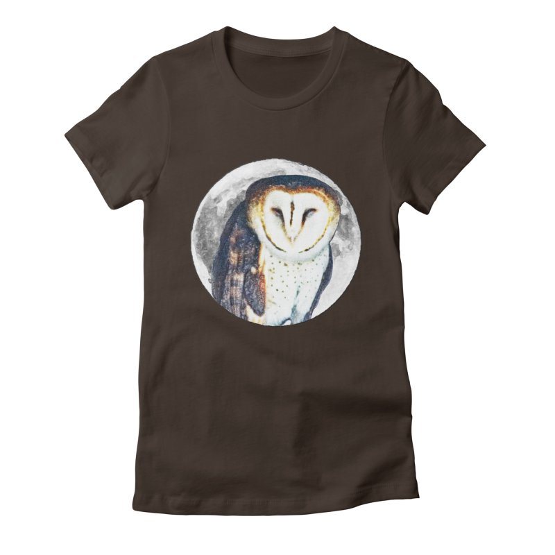 Tyto alba Women's Fitted T-Shirt by Of The Wild by Kimberly J Tilley