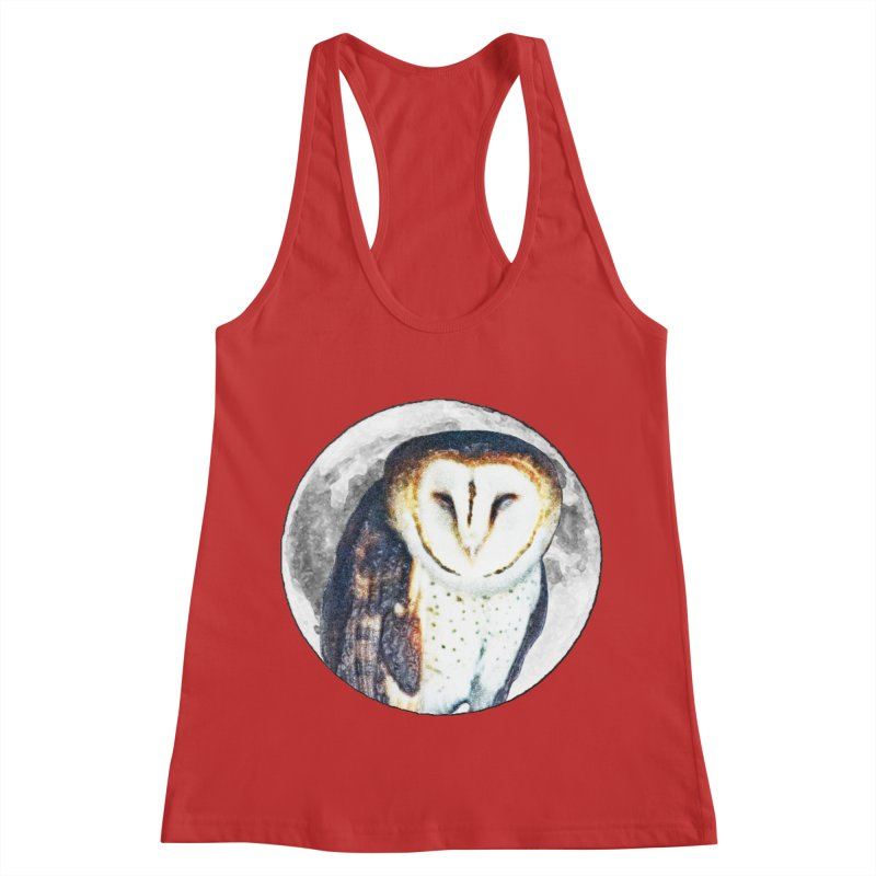 Tyto alba Women's Racerback Tank by Of The Wild by Kimberly J Tilley
