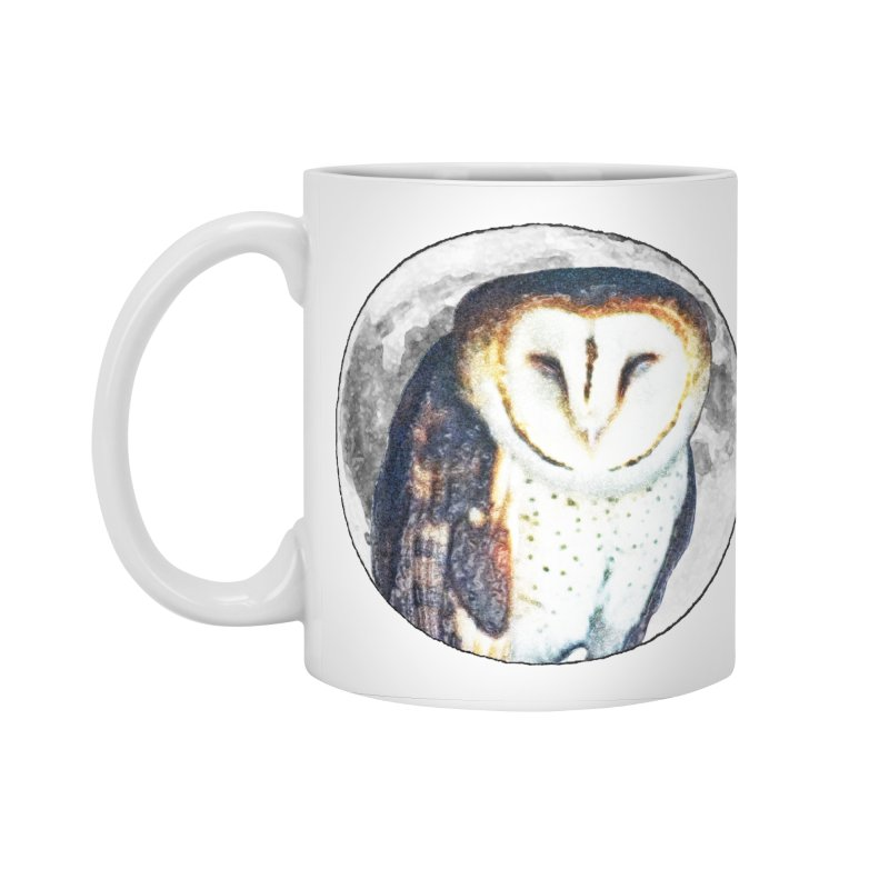 Tyto alba Accessories Standard Mug by Of The Wild by Kimberly J Tilley