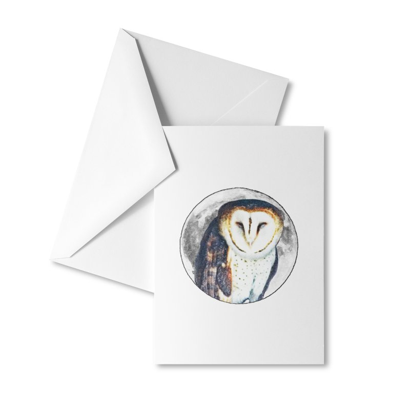Tyto alba Accessories Greeting Card by Of The Wild by Kimberly J Tilley