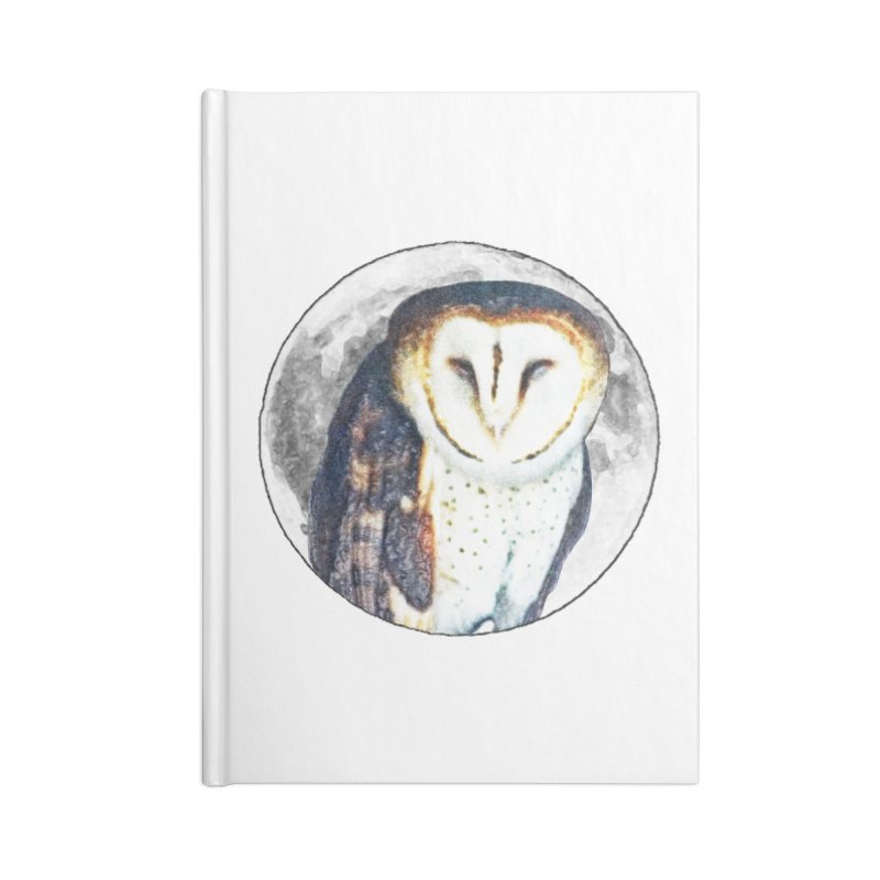 Tyto alba Accessories Lined Journal Notebook by Of The Wild by Kimberly J Tilley