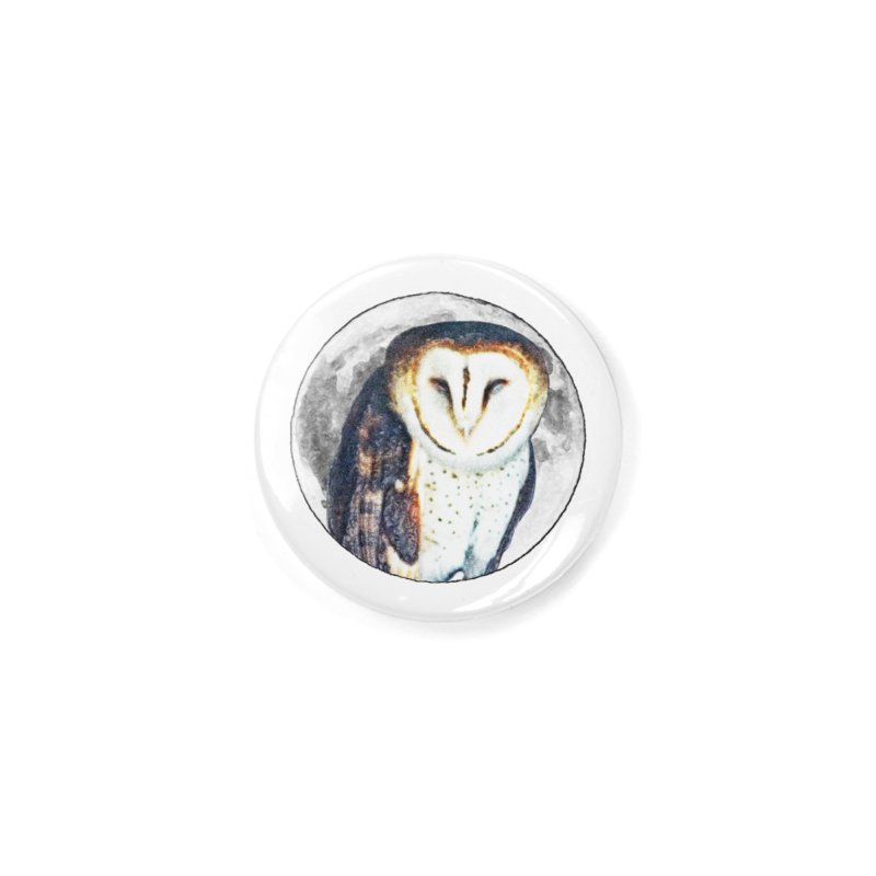 Tyto alba Accessories Button by Of The Wild by Kimberly J Tilley