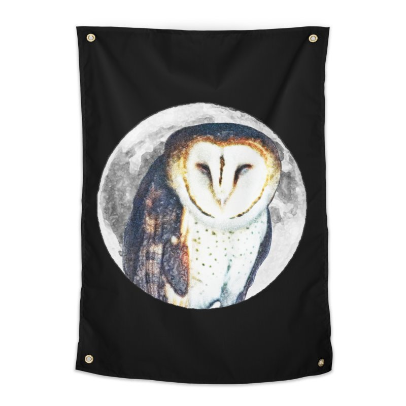 Tyto alba Home Tapestry by Of The Wild by Kimberly J Tilley