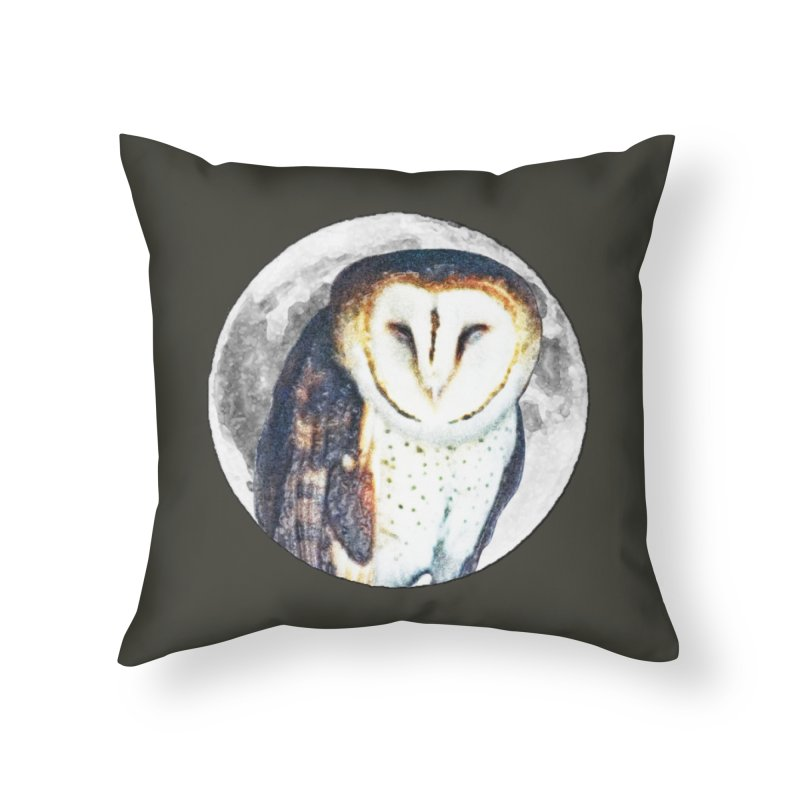Tyto alba Home Throw Pillow by Of The Wild by Kimberly J Tilley