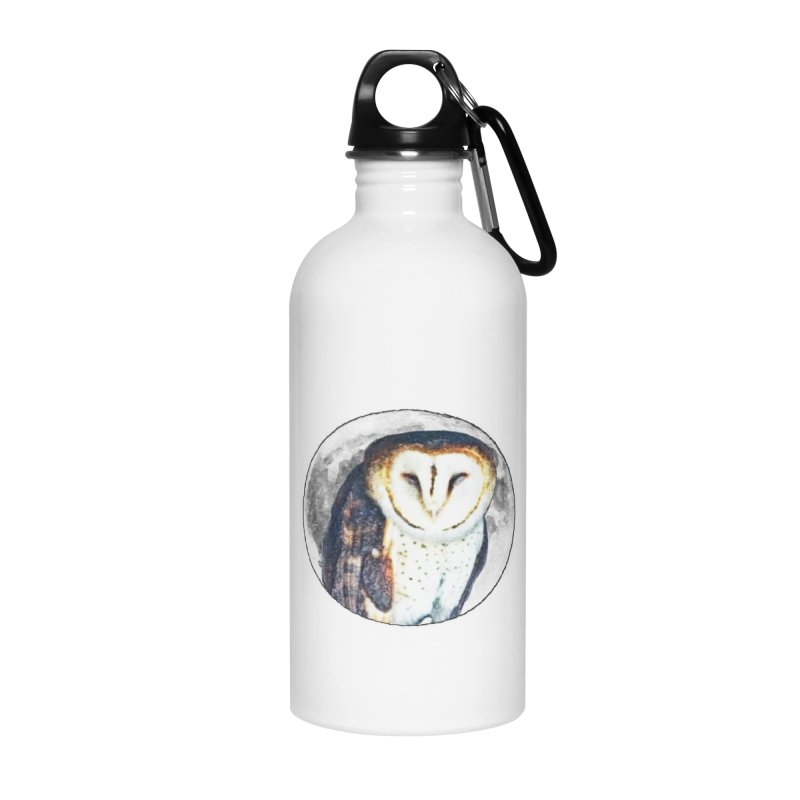 Tyto alba Accessories Water Bottle by Of The Wild by Kimberly J Tilley