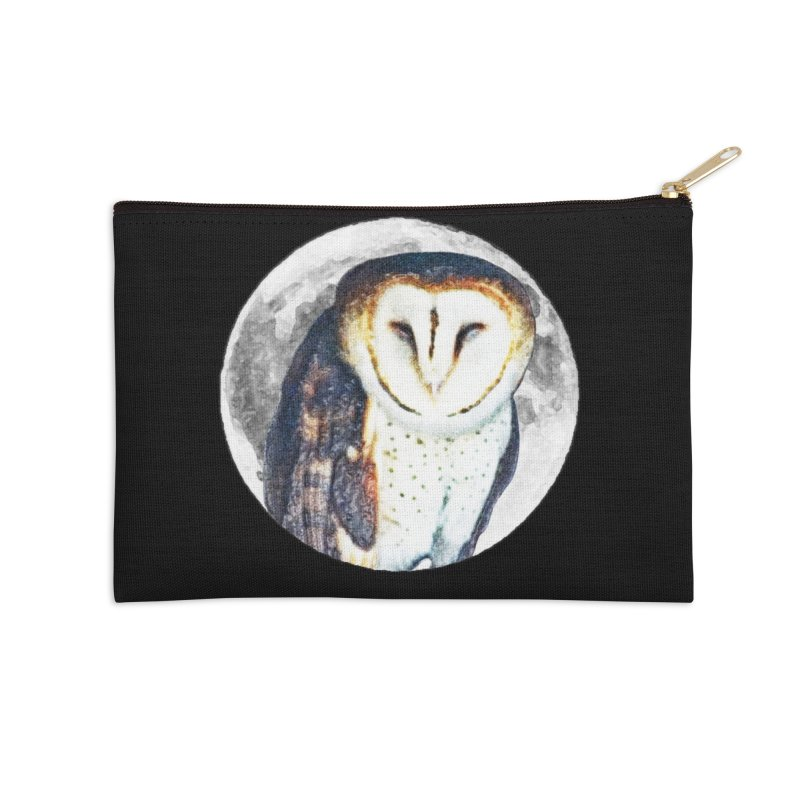 Tyto alba Accessories Zip Pouch by Of The Wild by Kimberly J Tilley