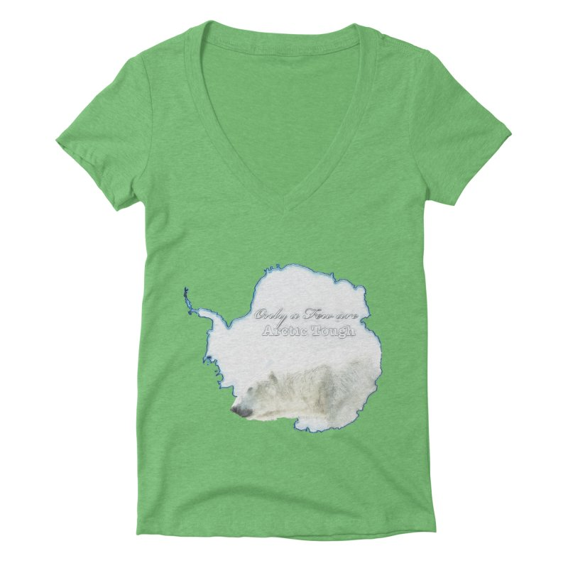 Arctic Tough Women's Deep V-Neck V-Neck by Of The Wild by Kimberly J Tilley