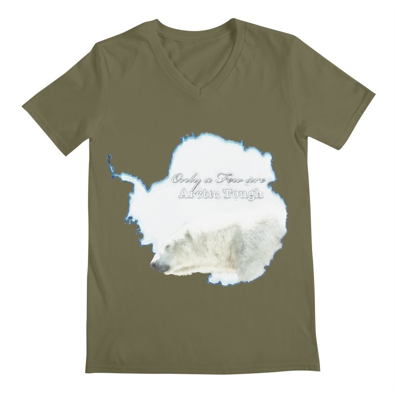 Arctic Tough Men's Regular V-Neck by Of The Wild by Kimberly J Tilley