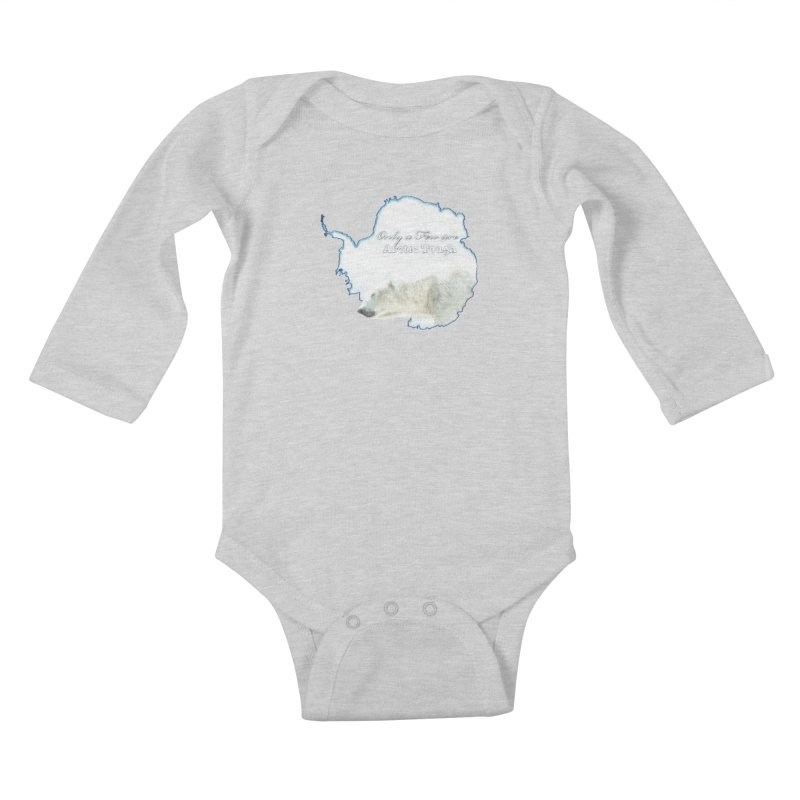 Arctic Tough Kids Baby Longsleeve Bodysuit by Of The Wild by Kimberly J Tilley