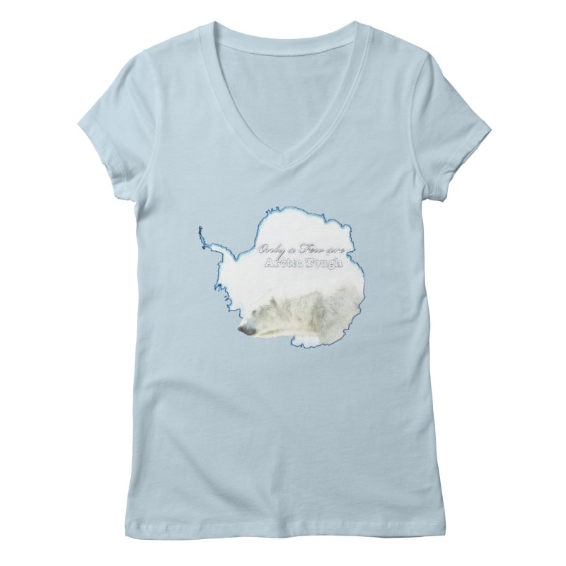 Arctic Tough Women's Regular V-Neck by Of The Wild by Kimberly J Tilley