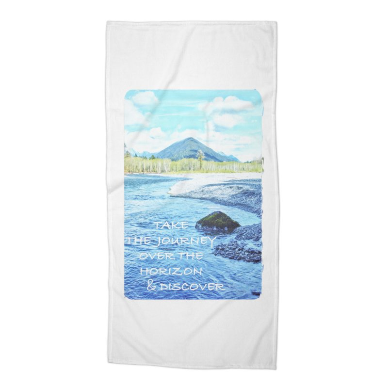 Take the Journey Accessories Beach Towel by Of The Wild by Kimberly J Tilley