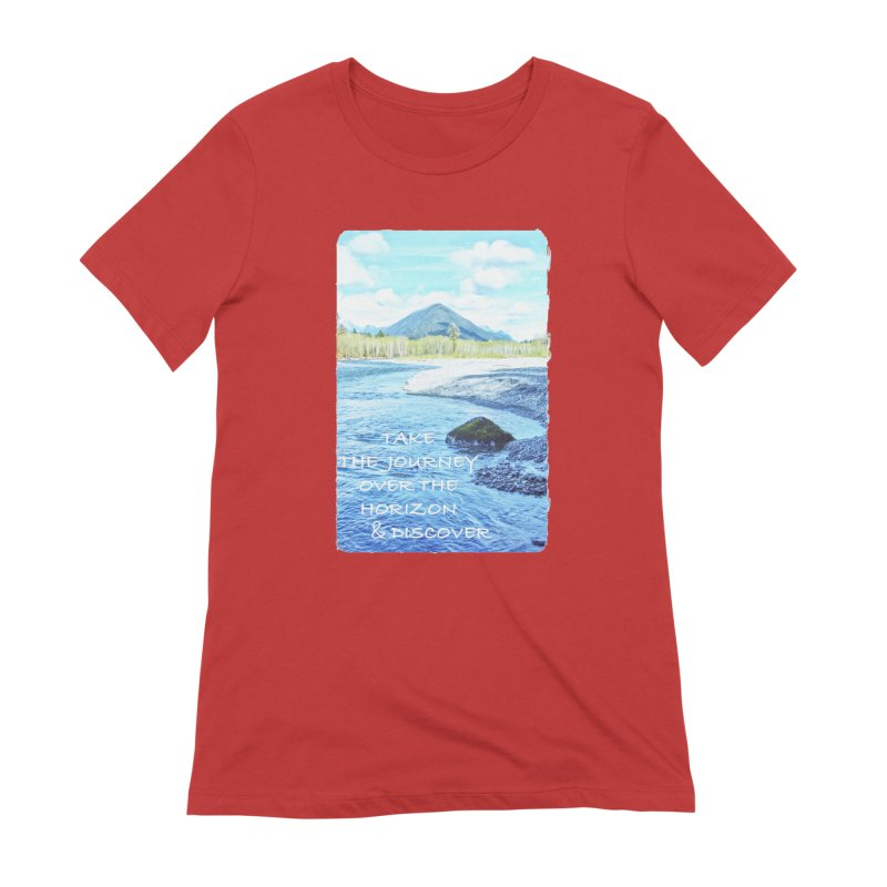 Take the Journey Women's Extra Soft T-Shirt by Of The Wild by Kimberly J Tilley