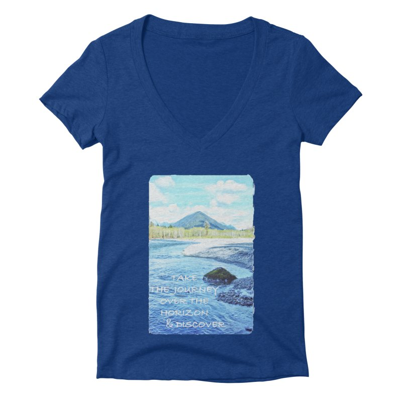 Take the Journey Women's Deep V-Neck V-Neck by Of The Wild by Kimberly J Tilley