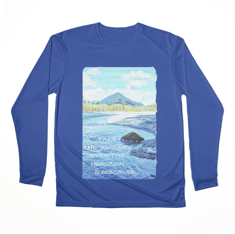 Take the Journey Men's Performance Longsleeve T-Shirt by Of The Wild by Kimberly J Tilley