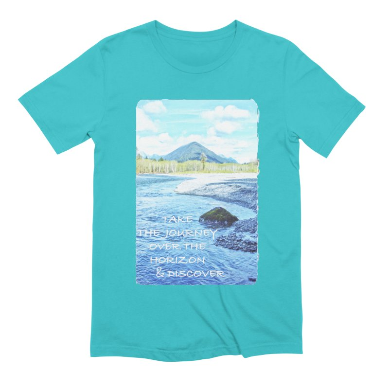 Take the Journey Men's Extra Soft T-Shirt by Of The Wild by Kimberly J Tilley