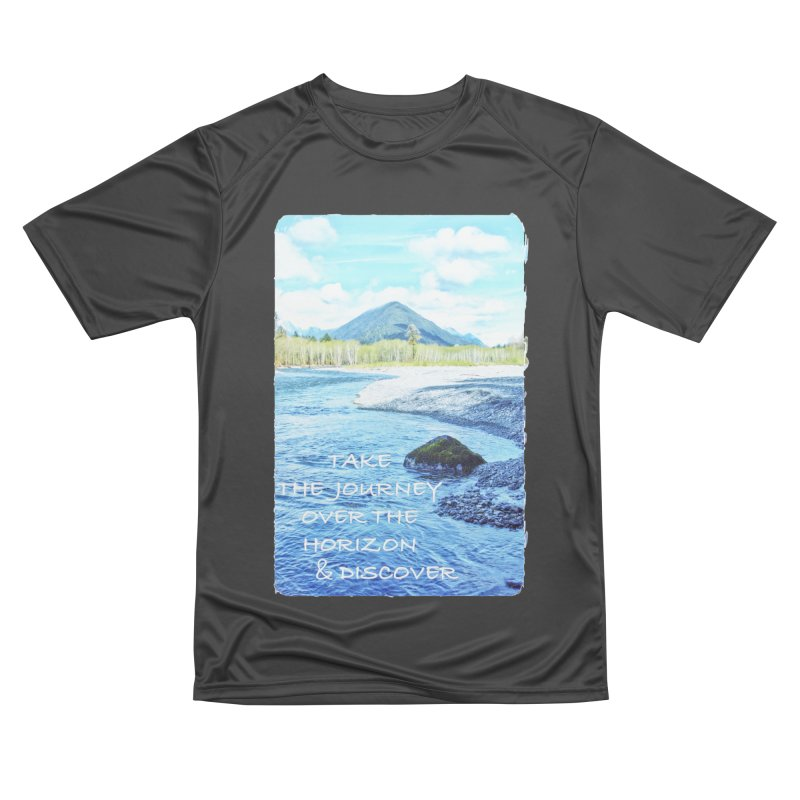 Take the Journey Men's Performance T-Shirt by Of The Wild by Kimberly J Tilley