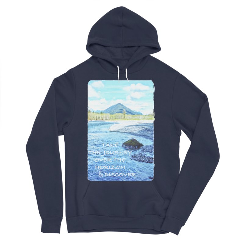 Take the Journey Women's Sponge Fleece Pullover Hoody by Of The Wild by Kimberly J Tilley