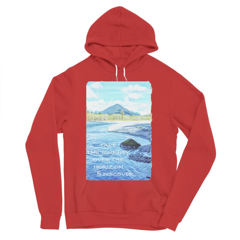 Take the Journey Men's Sponge Fleece Pullover Hoody by Of The Wild by Kimberly J Tilley