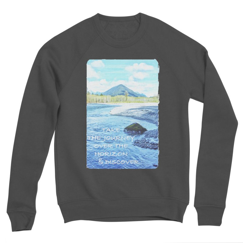 Take the Journey Men's Sponge Fleece Sweatshirt by Of The Wild by Kimberly J Tilley