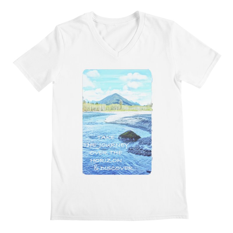 Take the Journey Men's V-Neck by Of The Wild by Kimberly J Tilley
