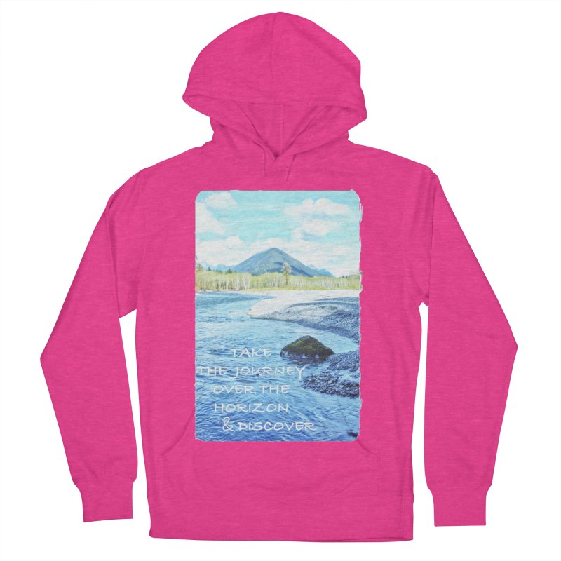 Take the Journey Women's French Terry Pullover Hoody by Of The Wild by Kimberly J Tilley