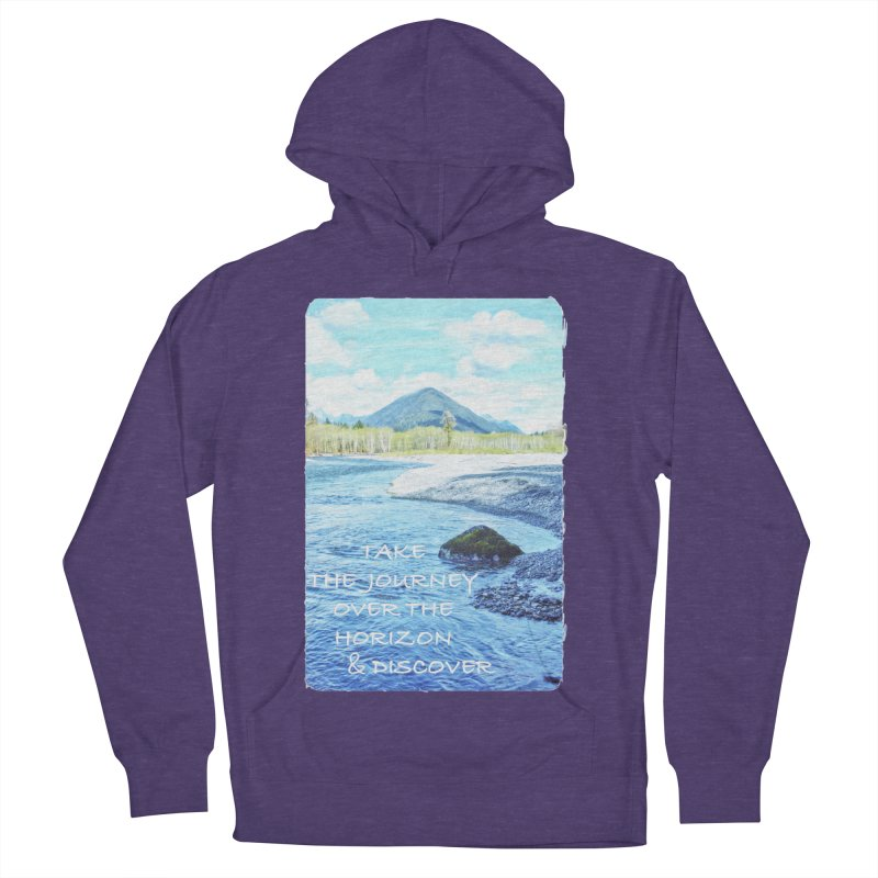 Take the Journey Men's French Terry Pullover Hoody by Of The Wild by Kimberly J Tilley