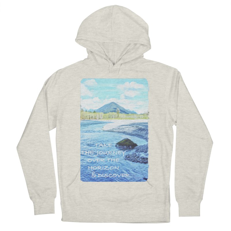 Take the Journey Men's Pullover Hoody by Of The Wild by Kimberly J Tilley