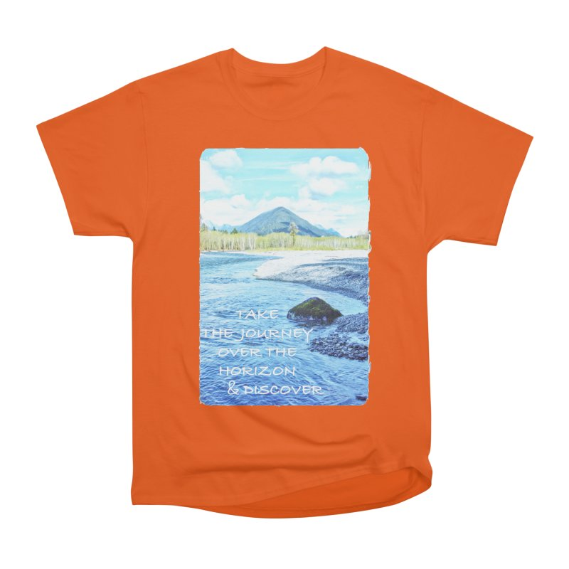 Take the Journey Women's Heavyweight Unisex T-Shirt by Of The Wild by Kimberly J Tilley