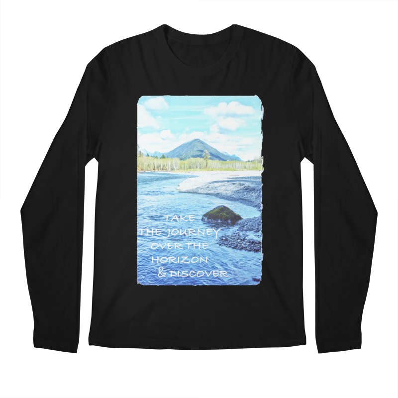 Take the Journey Men's Regular Longsleeve T-Shirt by Of The Wild by Kimberly J Tilley